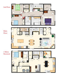 The atwater duplex with finished one bedroom basement for Basement suite plans