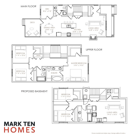 image of The Yorkville floor plan at Mark Ten Homes Fort McMurray